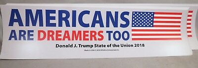 Wholesale Lot Of 10 Trump Americans Are Dreamers Too Sticker Re Elect Usa Flag