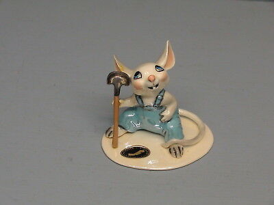 Retired Hagen Renaker Specialty Baby Mouse W/ Hoe