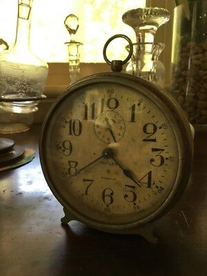 Antique Tattler Ansonia Intermittent Alarm Clock For Restoration