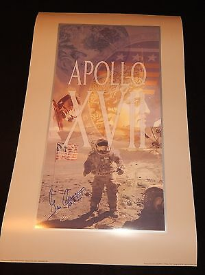 Apollo 17 poster signed by the last man on the moon Gene Cernan - Last One!