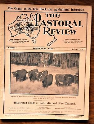 Scarce The Pastrol Review  journal January 16 1935. Agriculture, Sheep, Farming.