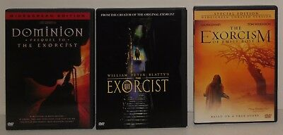 Lot of 3 Exorcist Movies DVD Dominion, Exorcist lll, Exorcism of Emily Rose