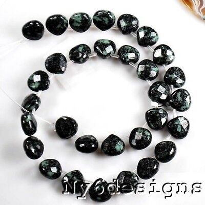 6x12mm Peony Jasper Faceted Heart Beads Spacer 30 Pcs (Y3305)b FREE SHIPPING