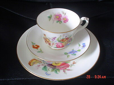 George Jones Crescent China JUNETIME Trio Cup Saucer Side Plate