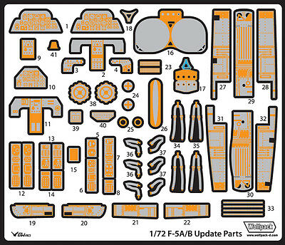 WOLFPACK WP72058 Update Set for Italeri® Kit F-5A/B Freedom in 1:72