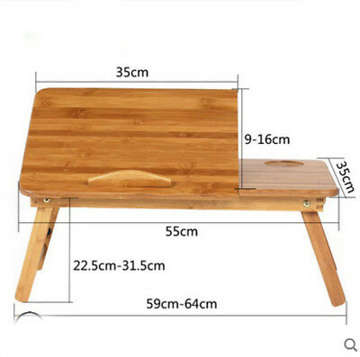 E45 Large Size Bamboo Board Bedroom Lazy Furniture Computer Desk Fold Drawer A
