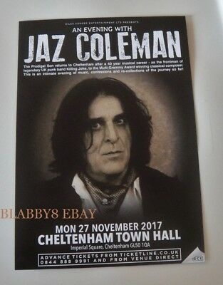JAZ COLEMAN -KILLING JOKE- CHELTENHAM SOLO EVENING WITH - Large flyer - 27/11/17
