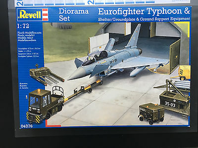 Revell 04376 Diorama Set Eurofighter Typhoon Shelter Ground Support 1:72 OVP