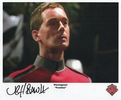 "Doctor Who Auto Photo Print Jeff Rawle ""Plantagenet"""