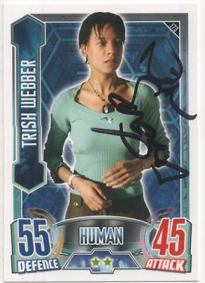 "Dr Who Alien Attax Trading Card No.173 Auto by Nina Sosanya ""Trish Webber"""