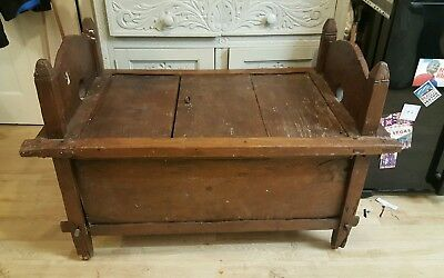 antique Indonesian balionese coffer blaket box bench