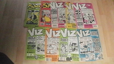 9 x UK Adult Comics VIZ & SMUT