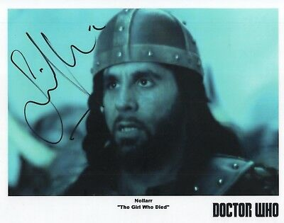 "Doctor Who Auto Photo Print Simon Lipkin ""Nollarr"""