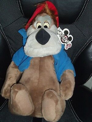 Rare Walt Disney World Brer Bear Plush Soft Toy With Tag Vintage Must See