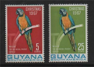 Guyana 1967 Christmas 2nd issue SG 443/4 MNH
