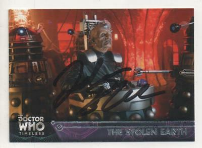 "Dr Who Topps Timeless Trading Card No.66 Auto by Julian Bleach ""Davros"" DALEKS"