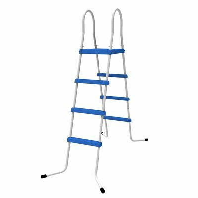 Jilong Poolleiter 122 cm Pool-Höhe 4 Stufen Schwimmbad-Treppe Pooltreppe Leiter
