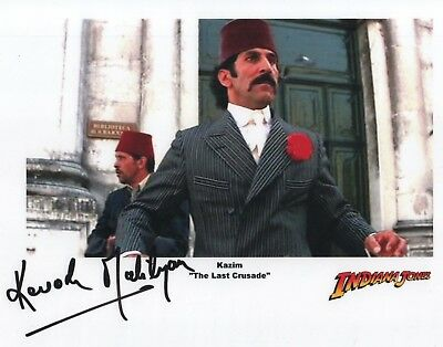 "Indiana Jones Auto Photo Print Kevork Malikyan ""Kazim"""