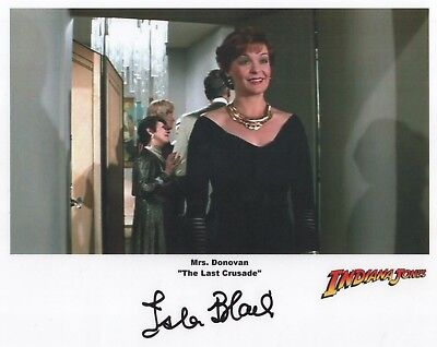 "Indiana Jones Auto Photo Print Isla Blair ""Mrs Donovan"""