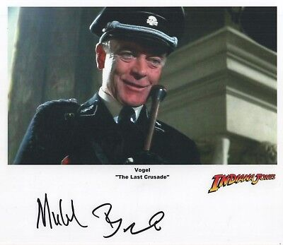 "Indiana Jones Auto Photo Print Michael Byrne ""Vogel"""
