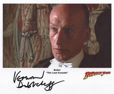 "Indiana Jones Auto Photo Print Vernon Dobtcheff ""The Butler"""