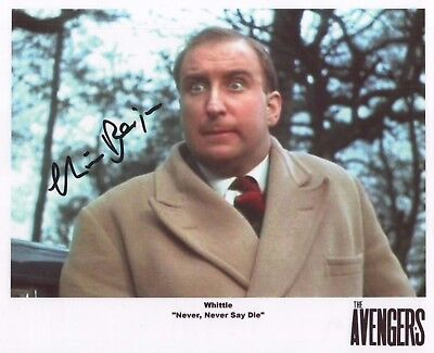 "Avengers Auto Photo Print Christopher Benjamin ""Whittle"""