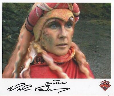 "Doctor Who Auto Photo Print Wanda Ventham ""Faroon"""