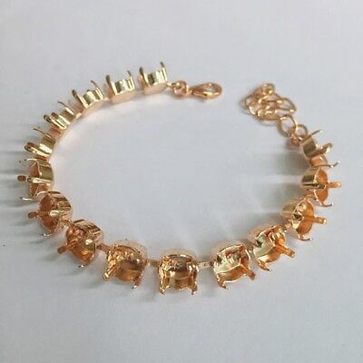 39ss Empty Cup Chain 8mm 15 Cup Bracelet, Rose Gold Plated  1088