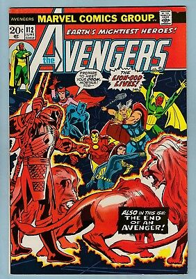 AVENGERS # 112 FNVF (7.0) 1st MANTIS APPEARANCE - 1st LION-GOD- GLOSSY CENTS KEY