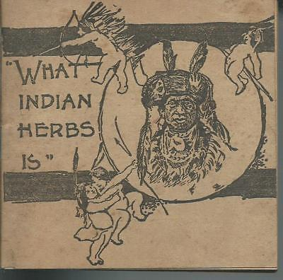 """Vintage Sales Booklet for Indian Herbs - Cure all """"magic"""" medicine from 1908."""