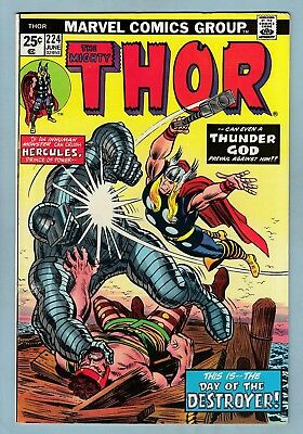 Thor # 224 Vfn (8.0)  Destroyer Appearance - Glossy High Grade - Cents - 1974
