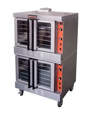 MVP Sierra SRCO-2 Double-Stacked Convection Oven Natural Gas - NEW