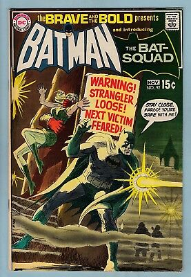 BRAVE & THE BOLD # 92 FN (6.0)  BATMAN - INTRO of the BAT-SQUAD- UNSTAMPED CENTS