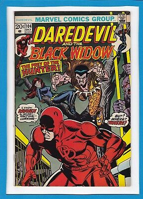 Daredevil And The Black Widow #104_October 1973_Fine_Kraven The Hunter!