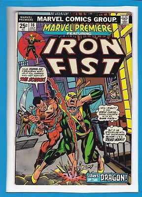 MARVEL PREMIERE #16_JULY 1974_VF MINUS_2nd APPEARANCE AND ORIGIN OF IRON FIST!