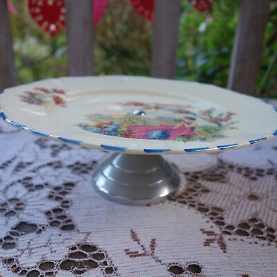 art deco lady cake stand