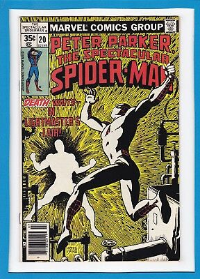 "Peter Parker, The Spectacular Spider-Man #20_July 1978_Vf_""lightmaster's Lair""!"