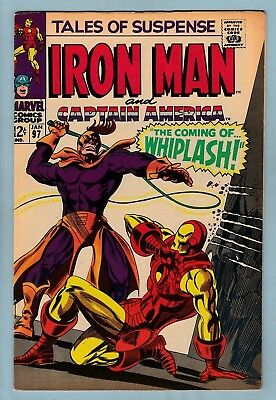 TALES OF SUSPENSE # 97 FN (6.0) 1st WHIPLASH APPEARANCE- BLACK PANTHER_CENTS KEY