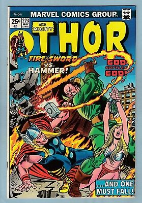 THOR # 223 NM (9.4)  LOVELY GLOSSY HIGH GRADE US CENTS COPY- THOR vs PLUTO- 1974