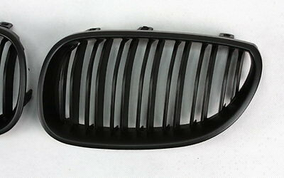 SPORTS GRILL GRILL FRONT GRILL GRILLE FOR BMW E60 E61 5er m5-look Black Matte