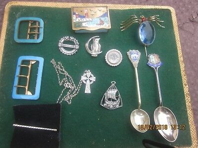 Antique / Vintage Job Lot Solid Silver Jewellery And Other Collectables