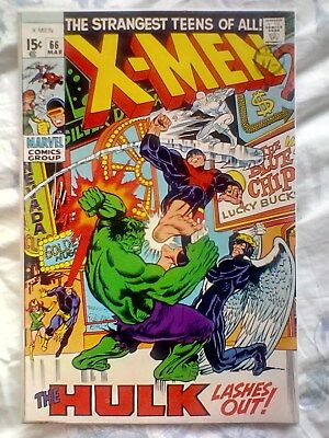 X-Men 66 (1970) vs the Hulk, Last new story with original X-Men from vol. 1