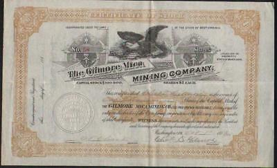 Stk-Gilmore MIca Mining Co. 1883 #58  Wheaton, MD  YES, Maryland!!! See image #3