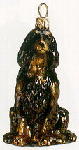 Gordon Setter Handblown Glass Christmas Ornament