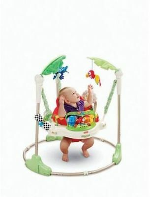 Fisher-Price Rainforest Jumperoo Multicolor Spins 360° Degrees Age 0-12 Months