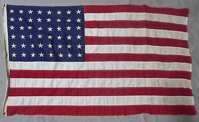 Used & Worn ORIGINAL WW2 Vintage US 48 STAR AMERICAN FLAG