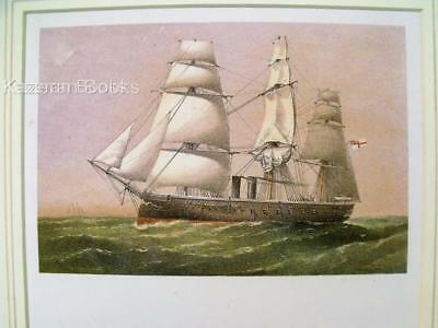 Antique Colour Lithographic Print HMS Inconstant Victorian Ships Of Royal Navy