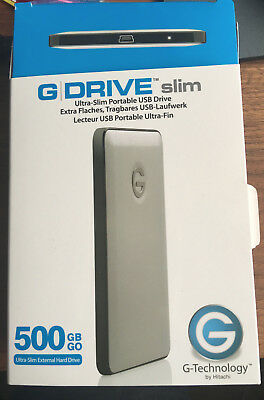 100% HITACHI G-DRIVE Ultra Slim USB Laufwerk, 500 GB