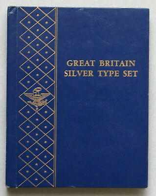 Great Britain 20th Cen. Silver Type Collection Album, Whitman Used, No Coins NR!