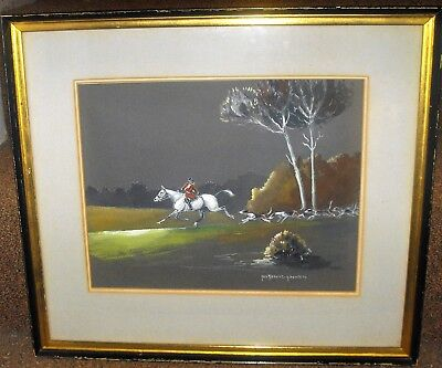 Listed Artist Yves Benoist Gironiere  Equestrian  Watercolor